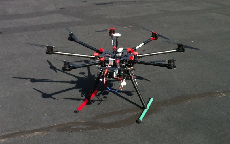 Octocopter drones