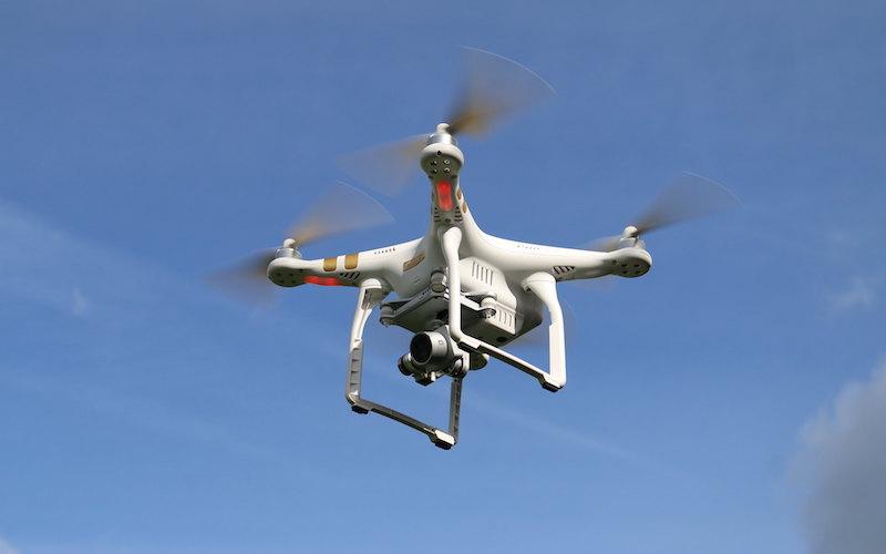 Phantom 3 drone flying